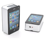 Wholesale 5pcs New Mini Portable Hand Held Air Conditioner Small Fan for IPHONE
