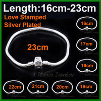 Wholesale Charm Bracelets Chains Love Stamp Fit European Bracelets Jewelry Accessories Free Express