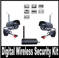 achat en gros de kits de caméra dvr-Numérique Caméra Vidéo sans Fil Récepteur USB DVR de Sécurité à Domicile Système CCTV Kit de