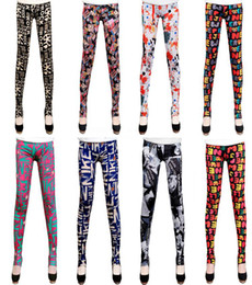 Wholesale 2013 New Fashion Sexy Women Leggings Patterned Tights Girl Graffiti Leggings Patterned A Variety of Styles Mixed