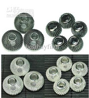 Wholesale WhiteBlack Findings Craft Spacer Mesh Round Beads mm mm Best quality Cheaper Price