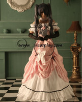 Women People Christmas Black Butler Costume Kuroshitsuji Ciel Cosplay Dress 1 + Hat + Wig +Glove + Walk Stick