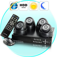 Wholesale Complete Surveillance Kit H264 DVR Cameras HDD