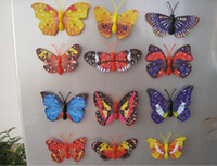 Wholesale 16 kinds of different styles Simulation of Laser butterfly fridge magnet refrigerator magnets