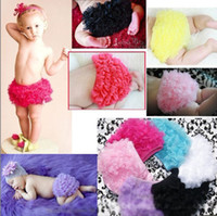 Wholesale Baby girls ruffle bloomers lace baby love short BB pants training pants adult baby wear