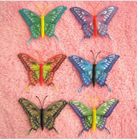 Wholesale 6 kinds of styles Hand Made Simulation Butterfly Fridge Magnet Fridge magnets Home Decoration