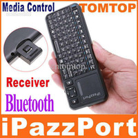 Wholesale iPazzPort Mini Bluetooth Keyboard Keypad For tablet Cell Phone Wireless Keyboard Laser Pen C1260