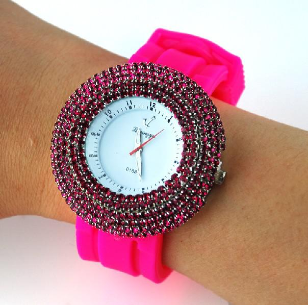 Bling Bling Crystal Watch Men Women Ladies Watches With ...