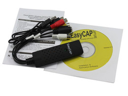 Wholesale EasyCAP USB2 TV DVD VHS Video Audio AV Capture adaptor Converter support Win7 bit