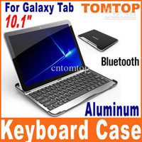 Wholesale Aluminum Bluetooth Keyboard Case for samsung Galaxy Tab quot tablet P7500 P7510 P5100 C1356