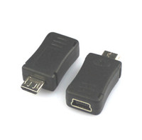 Wholesale Mini Female to Micro USB Male Adapter Converter Mini pin to Micro Connector