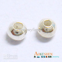 Wholesale 925 Sterling Silver Smooth Ball Spacer Beads mm mm u pick