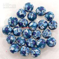 Wholesale 200 Flower Fimo Polymer Clay Beads F Bracelet MM B492