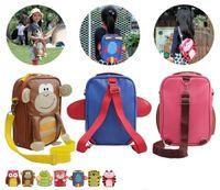 Girl as shown PU Children Backpacks NADO baby school bags Multi-function cartoon bag shoulder bag Chest bag 5pcs lot