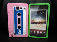 For Samsung n7000 case - For Note i9220 Classic Cassette Tape Silicone Gel Case Cover N7000 Cases