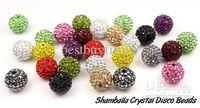Wholesale Fashion shamballa crystal disco beads with nylon cord Fit shamballa bracelet necklace DIY mm