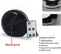 Wholesale Home Hidden Spy Nanny Mirror Clock Motion Detection Activated Camera with Remote Control X960