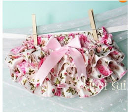 Wholesale bloomers Satin bloomers diaper covers baby bloomers pink flower printed Bloomers fashion girl wear