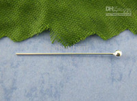 Wholesale 100 Sterling Silver Head Pins mm Findings