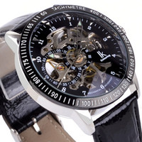 Wholesale top quality luxury men leather watch gift box automatic mechanical watches mens wristwatch swiss IK