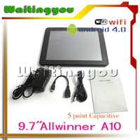 Wholesale 9 inches A10 tablet pc Capacitive screen Android DDR3 GB Ghz x768 pixels support G