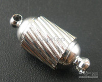 Wholesale 25 Sets Barrel Magnetic Clasps x8mm Findings
