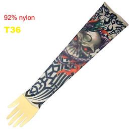 Wholesale 10x Fancy Tattoo Skull Arm Sleeves Tattoo Ideas Popular Tattoo Sleeve Designs Pro T36