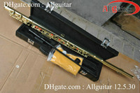 Wholesale New Gold plate Closed hole flute professional flute