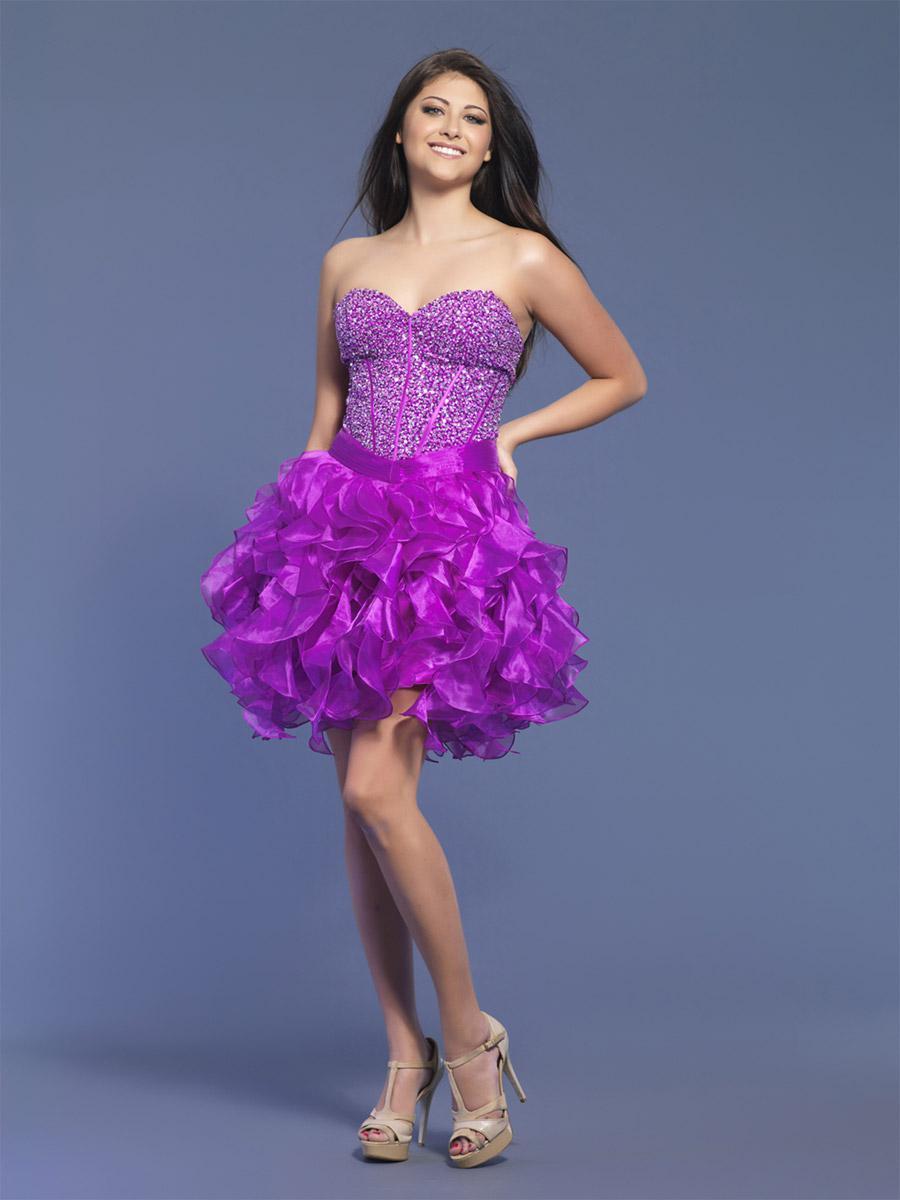 Fantastic Short Purple Prom Dress Vignette - All Wedding Dresses ...