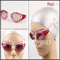 Wholesale RED UV resistance swimming mirror swimming swimming goggles swim glasses YJ1