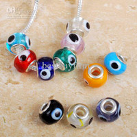 Wholesale Mix bulk European Evil Eye beads fit charm bracelet A HG