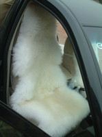 Wholesale 2pcs Real Australia Sheepskin Car Seat Cover white color