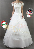 Wholesale new women fashion A line appliques ruffles embroidery wedding dresses pc