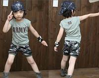 100/110/120/130/140 baby camo pants - baby clothes handsome camo set camo suit boys suit tshirt pants short pants