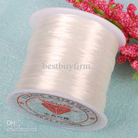 Wholesale Stretchy Beading Cord Wholesale - 10pcs 0.5mm white Elastic Beading Cord Stretchy String 80Yard
