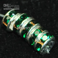 Wholesale 200 mixed color Crystal Rondelle Spacer Gemstone Bead mm mm Or Green color A83