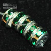 Precio de Mixed crystal beads-200 piezas de color mezclado 6mm Crystal Rondelle del espaciador de la piedra preciosa del grano / 8mm o verde A83 envío libre del color