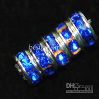 Wholesale 200 mixed color Crystal Rondelle Spacer Gemstone Bead mm mm Or Blue color A85
