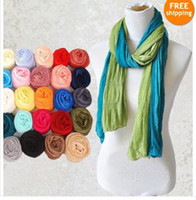 Wholesale 2013 Women Girl s candy colors scarves Soft Long Wrap Chiffon silk Scarf Solid Colors fashionable