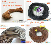 Wholesale 4 colors Genuine Leather Necklace Thread Cord Wire meters mm Dia