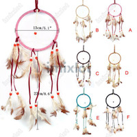 Wholesale 6pcs New Lovely Handmade Dream Catcher Dreamcatcher Wall Plaque Decorations Jewelry Q06