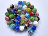 Lampwork Glass Beads Millefiori Glass Beads 10mm Mixed Color...