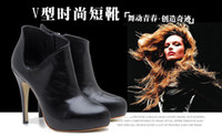 Wholesale V style Fashion OSIONCE Moble Elegant Womens Lady Dress Shoes boots heels cm Serenity Black Brown