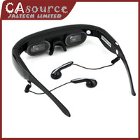 Wholesale 3D Stereo Eyewear quot Widescreen Multimedia Player Portable Video Glasses Virtual Theatre GB