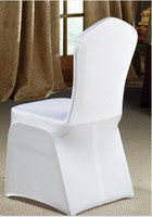 Banquet Chair Spandex / Polyester  Free Shipping 200pcs white spandex banquet chair cover for hotel,party,wedding(flat front)