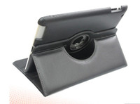 Wholesale 360 degree Rotating PU Leather Cover Case for ipad ipad smart stand with magnet