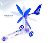 Wholesale Hot sales Green Environmental protection DIY Wind Power Car toy Move Windmill kids toys gifts
