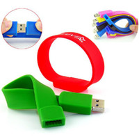 Wholesale Rubber series usb flash drive USB Stick USB Memory Disk P GB Bracelet USB Flash Drive