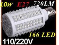 Wholesale 100 Positive Bright LED E27 E14 B22 Screw Corn Light Bulb W Warm Light K V