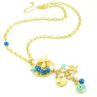 Wholesale evil eye mat gold nacklace hot selling in South America NL